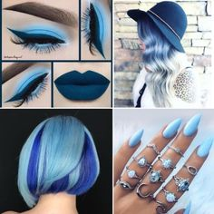We love this summers take on blue  How about you? http://www.qunel.com/  fashion street style beauty makeup hair men style womenswear shoes jacket