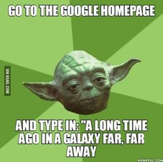 Thank me later. May the force be with you.