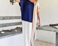 NEW Maxi Dress / Fall Winter Dress / Plus Size Dress / Long Sleeve Dress / Beige Dress / Blue Dress / Summer Dress / Kaftan / #35239