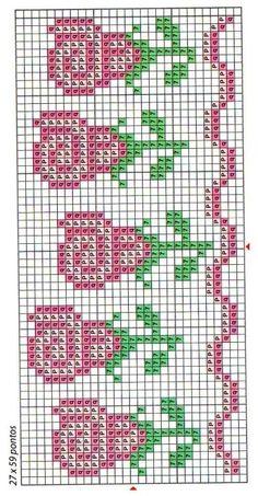 Cross Stitch Boarders, 123 Cross Stitch, Cross Stitch Bookmarks, Simple Cross Stitch, Cross Stitch Flowers, Filet Crochet, Pattern Art, Beading Patterns, Pixel Art