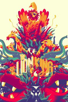 "Mondo's ""Never Grow Up: A Disney Art Show"" Opens Today and We've Got More Amazing Art to Share! Mondo's ""Never Grow Up: A Disney Art Show"" Opens Today and We've Got More Amazing Art to Share! Disney Art, Disney Kunst, Disney Love, Disney Magic, Expo Disney, Lion King Poster, Lion King Art, The Lion King, Kunst Poster"