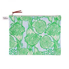 Accessories: Large Pouch Green Grass $25