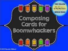 Composing Cards for Boomwhackers Freebie!