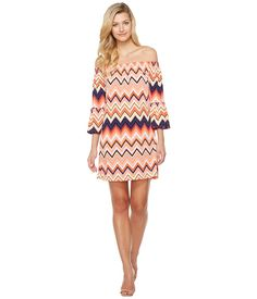 TRINA TURK TRINA TURK - SWING DRESS (MULTI) WOMEN'S DRESS. #trinaturk #cloth #
