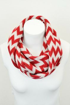 Chevron Knit Infinity Scarf - Color Options | Betsy Boo's