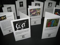 Card set with descriptions in the back