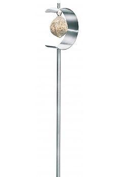 Blomus Stainless Steel Half-Moon Bird Feeder - NIDO | seattleluxe.com