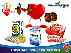 Alliance in Motion Global's nutra-ceutical products that are best taken for our heart's health include the TRIPLE TREAT of C24/7 Natura-ceuticals to maintain a normal blood pressure, Choleduz Omega Supreme to lower down bad cholesterol, and Vida Cardio-ceutical Drink for proper blood circulation!   IT'S TIME TO TRIPLE TREAT YOUR HEART BEFORE IT'S TOO LATE! PREVENTION IS ALWAYS BETTER THAN CURE!
