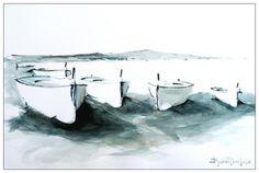 JORDI SERRAT JURADO Nautical, Watercolor, Abstract, Artwork, Painting, Outdoor, Inspiration, Watercolor Painting, Paintings