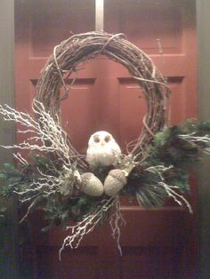 My winter wreath...