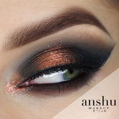 This combo by @anshu_makeup is We feel sultry just looking at it! She used Makeup Geek Eyeshadows in Corrupt and Flame Thrower to get the look.