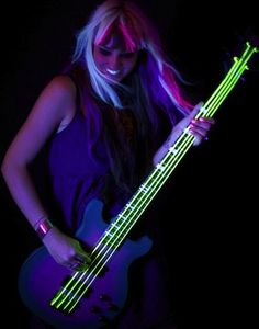 Glow in the dark electric guitar strings...amazing. #music #guitars