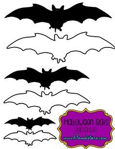 Free Printables - Halloween Bat Silhouettes
