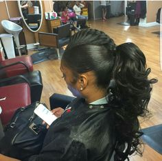Quality virgin human hair & extensions trusted & recommended by stylists, and backed by the only return policy in the industry. Try Mayvenn hair today! Cute Ponytails, Ponytail Styles, Curly Hair Styles, Natural Hair Styles, Braid Styles, Weave Ponytail Hairstyles, Pretty Hairstyles, Girl Hairstyles, Curly Ponytail