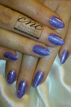 Charmaines Nail Creations on twitter used CND #Shellac in Lilac Longing with #Irresistible Lilac glitter #WeAreIrresistible #nails #nailart