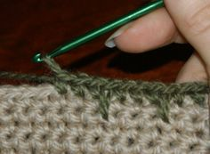 59 Free Crochet Patterns for Edgings, Trims, and Blanket Borders: 18. Crochet Edging Stitches: The Spike Stitch