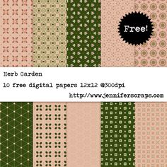 Herb Garden - Free Digital Paper Pack