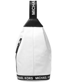 Michael Michael Kors The Michael Logo Sling Pack - White Fall Handbags, Cheap Handbags, Handbags Michael Kors, Purses And Handbags, Cheap Purses, Purses For Sale, Mochila Retro, Prada Purses, Popular Handbags