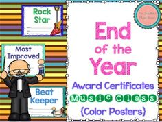 Editable Awards for Music - 23 premade and 25 editable! Education For All, Music Education, Motivational Activities, Teacher Boards, The Power Of Music, Music And Movement, Elementary Music, Music Class, Music Lessons