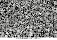 Background of gray granite gravel - stock photo