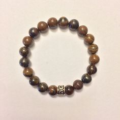 Genuine Tiger Iron w/ a Sterling Silver Charm Bracelet ~ Clarity & Creative Expression