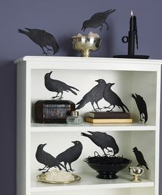 Take a look at this Crow & Bat Silhouette Décor Set by Martha Stewart Crafts on #zulily today!