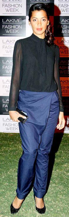 Mugdha Godse at the Lakme Fashion Week 2014 #Style #Bollywood #Fashion #Beauty #LFW2014