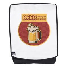 Bachelor Party Funny BEER ME IM THE GROOM Backpack - married gifts wedding anniversary marriage party diy cyo