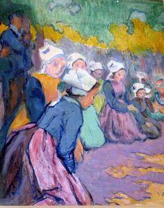 Jean Bertrand Pegot-Ogier (1878-1915) - Breton Girls at Prayer