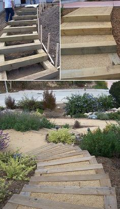 Step by Step! : DIY Garden Steps & Outdoor Stairs Got a slope in your yard? You can add DIY garden stairs with these tutorials. Outdoor stairs and garden steps lead you through your garden!