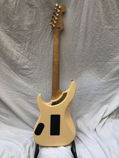 Washburn custom shop ivory electric guitar made in the USA. Washburn Guitars, Birdseye Maple, Floyd Rose, Nuno, Recording Studio, Bass, Ivory, The Originals, Shopping