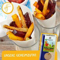 Schmeckt herrlich! Ketchup, Sweet Potato, French Toast, Potatoes, Vegetables, Breakfast, Food, Healthy Fries, Beetroot