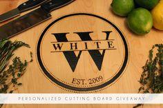 Love this monogram cutting board!
