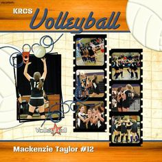 volleyball scrapbook page layouts - Google Search