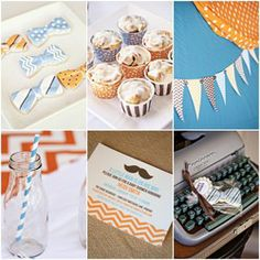Perfect for a boy reveal when you're announcing to your family! >From TomKat Studio - http://shoptomkat.com/item_32/Little-Man-Printable-Baby-Shower-Collection.htm