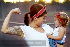 Or your rough and tumble side. | 31 Impossibly Sweet Mother-Daughter Photo Ideas