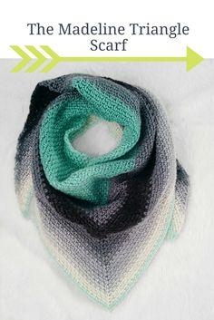 Crochet Triangle Scarf Pattern. It's free!