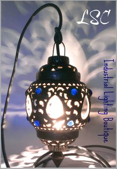 VINTAGE Inspired Metal Hanging PENDANT LIGHT by LampstandCouture $92 free U.S shipping http://lampstandcouture.etsy.com