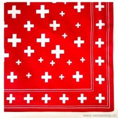 Nickituch CH-Kreuz / Nickituch CH-cross is comfortable, lightweight and looks great. The cloth protects the neck from wind stumble. The Nickituch has upped the large and small Swiss cross.