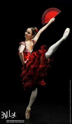 A poster for the San Francisco Ballet. Maria Kochetkova as Kitri in Don Quixote. Photo: Erik Tomasson.