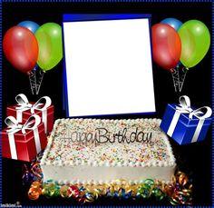 Birthday Photo Frame, Happy Birthday Frame, Happy Birthday Photos, Happy Birthday Candles, Birthday Frames, Beautiful Love Pictures, Birthday Greetings, Birthday Cake, Creative
