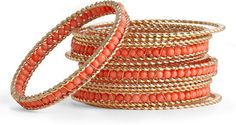 coral bangles