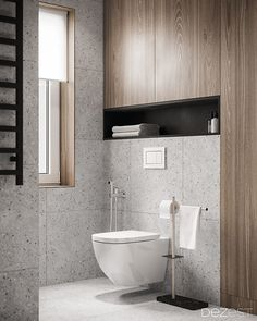House by the river, Ukraine – Dezign Ark (Beta) - Bathroom 3 Minimalist Bathroom Design, Bathroom Design Luxury, Home Interior Design, Interior Modern, Interior Paint, Bad Inspiration, Bathroom Inspiration, Toilette Design, Narrow Bathroom