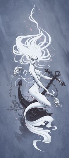 Ghost Mermaid by aleksandracupcake on DeviantArt