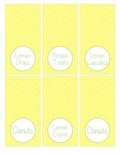 Lemonade Stand Party Printables on { lilluna.com } Cute ideas for your next lemonade party!