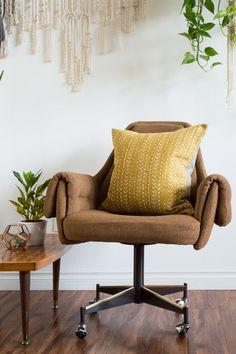 Image of Mustard Mudcloth Pillow