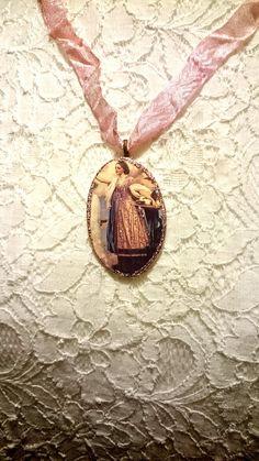 collier pendentif baroque Héra la déesse de l'Olympe et
