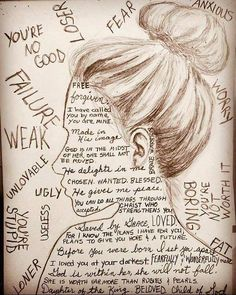 """I LOVE THIS SO MUCH. The image is of a female, but it applies to everyone! """"Remind yourself of the truth. It's not easy when you've been beaten down and lies you've been told play on repeat in your mind. But when you continue to replace lies with truth, eventually the truth starts to stick ❤️ #giveherwingstofly"""""""