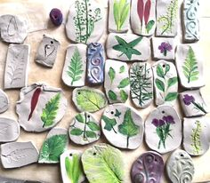 Nature Craft – Perfect for Earth Day Activity – Clay Imprints with Plants and Flowers – My Bright Ideas – Keep up with the times. Clay Projects For Kids, Earth Day Projects, Diy Garden Projects, Craft Projects, Craft Ideas, Animal Crafts For Kids, Crafts For Kids To Make, Art For Kids, Earth Day Activities