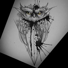 This one is actually super cool! I could get this on the top of my arm Owl Tattoo Design, Sketch Tattoo Design, Tattoo Designs, Owl Tattoo Drawings, Tattoo Sketches, Tattoo Owl, Body Art Tattoos, Sleeve Tattoos, Buho Tattoo